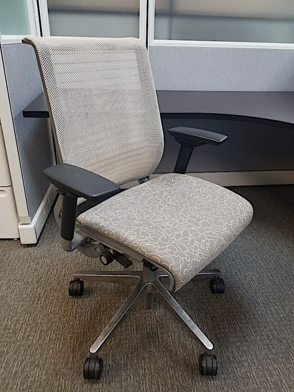 used white mesh Steelcase Think chairs