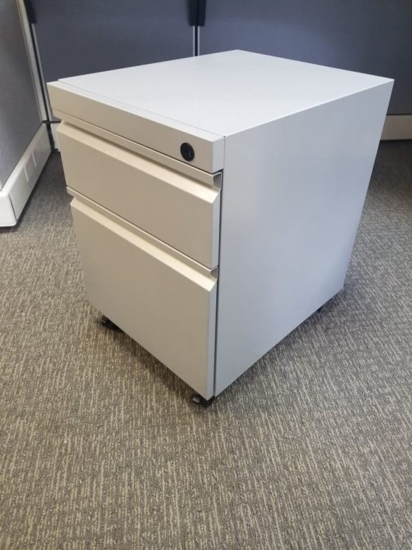 Secondhand BF Mobile Pedestals Color: White