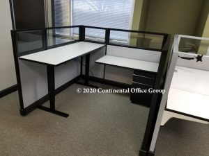 Secondhand Herman Miller Sit and Stand Desk Top AO2 Cubicles