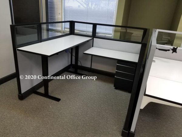 Used Herman Miller Sit and Stand Desk Top AO2 Cubicles