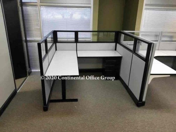 Herman Miller Sit and Stand Desk Top AO2 Cubicles