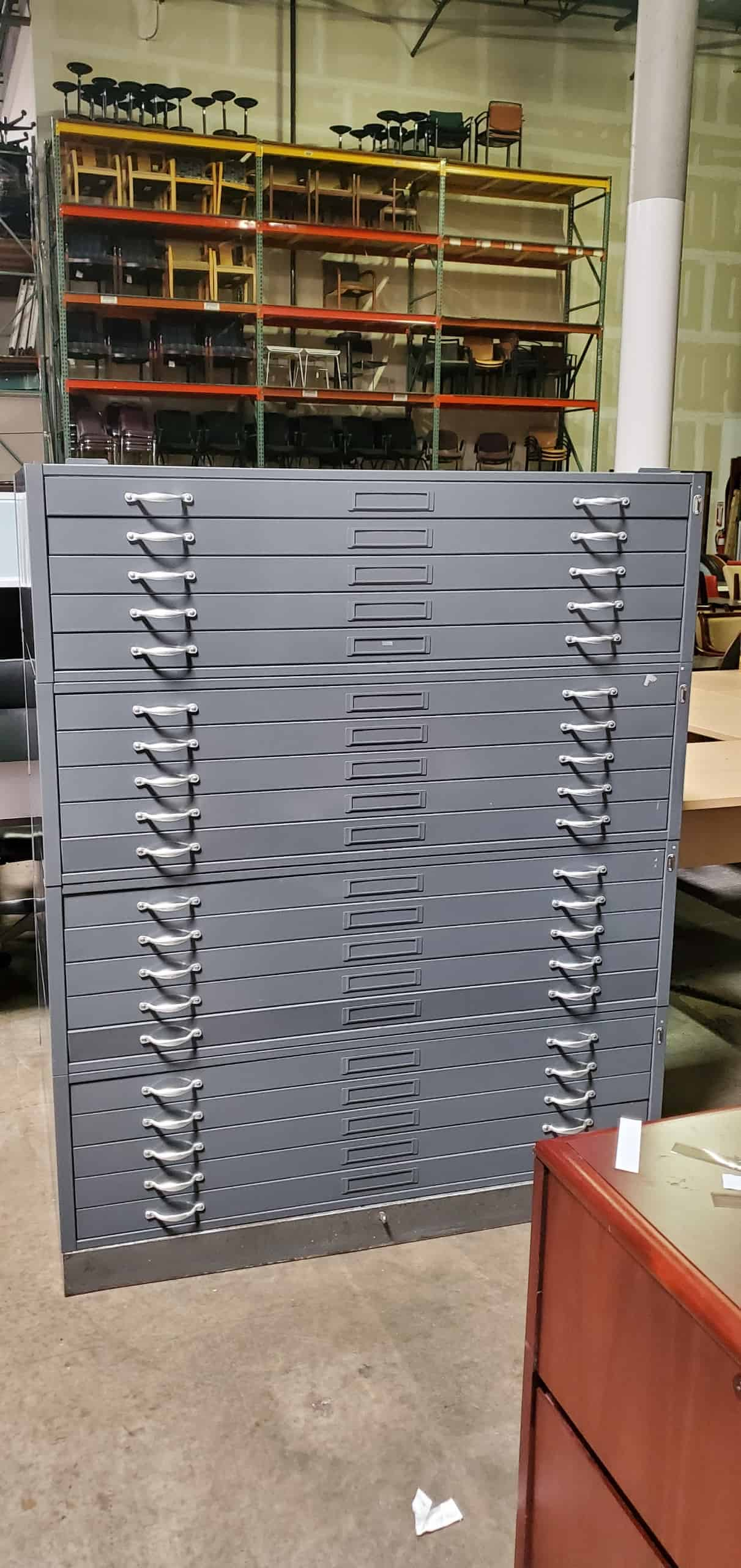 Used Five Drawer Flat File Cabinet