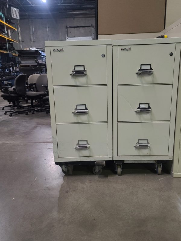 Used Fire King 3 Drawer Vertical Fire File Cabinet