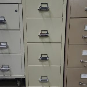 Used Fire King 4 Drawer Vertical Fire File Cabinet