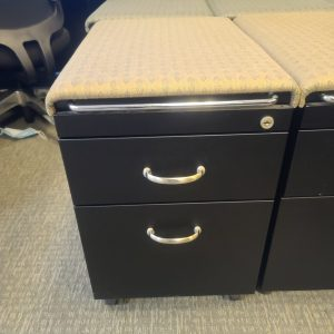 Used Steelcase Tan Cushion Mobile Pedestals