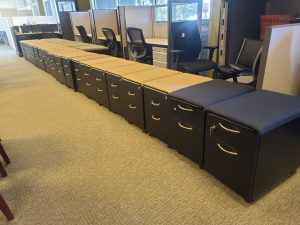 All Used Steelcase Light Tan Cushion Mobile Pedestals