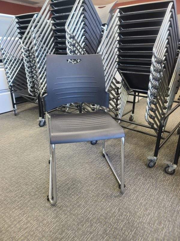 Used Stacking Chairs with Dollies
