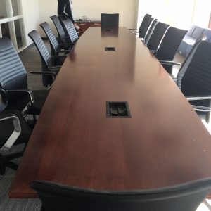 Used 20ft Boat Shape Conference Table