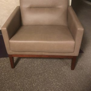 Used Coalesse Brown Leather Club Chairs