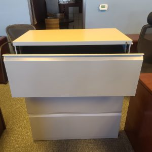Open Drawer Used Herman Miller 3 Drawer File Cabinets