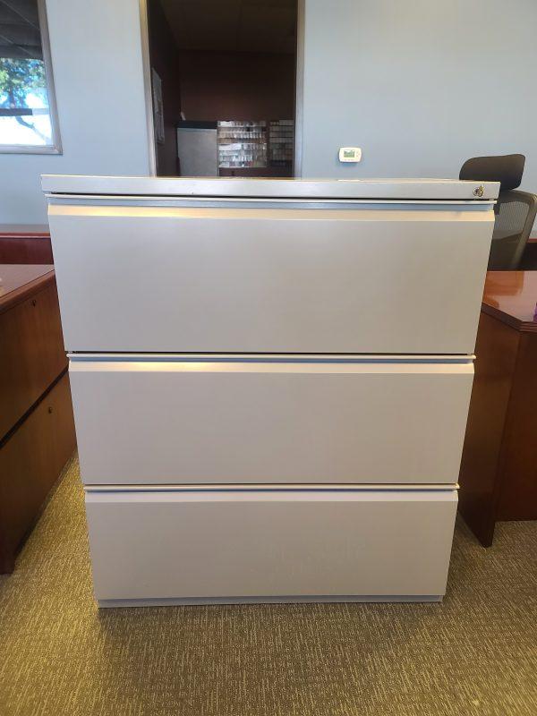Used Herman Miller 3 Drawer 36in File Cabinet