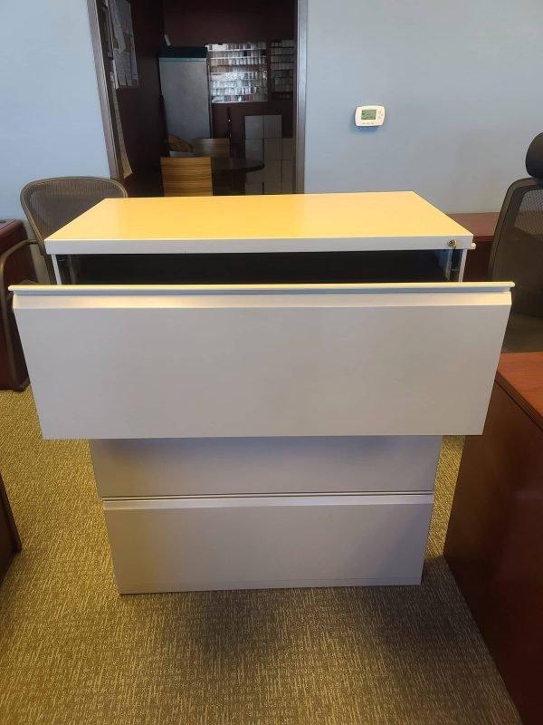 Open Drawer Used Herman Miller 3 Drawer File Cabinets
