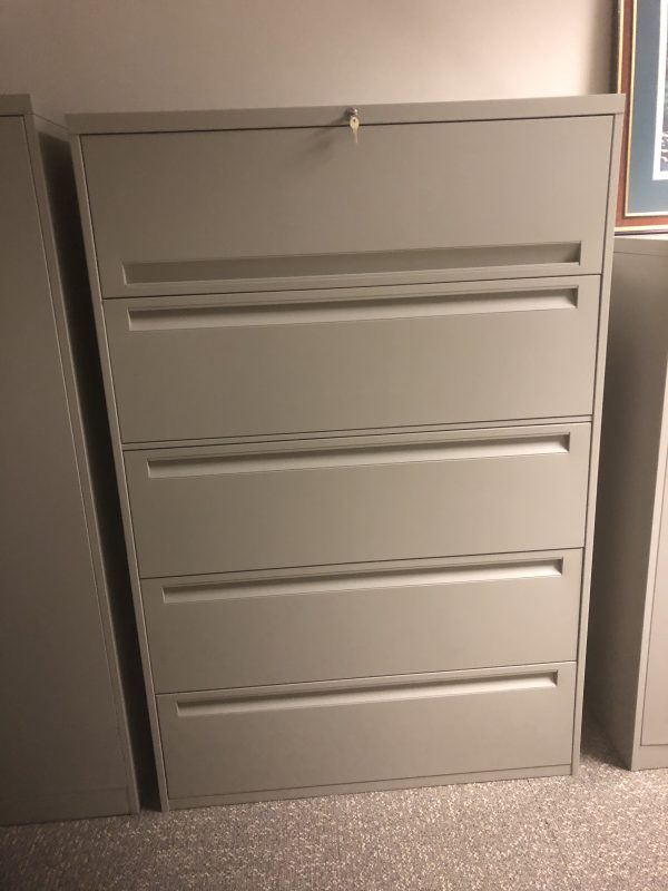 Used Steelcase 5 Drawer 36in Wide File Cabinets