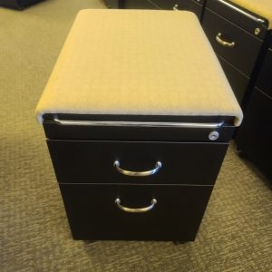 Used Steelcase Light Tan Cushion Mobile Pedestals