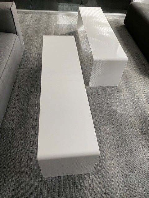60 inch Long White Coffee Tables
