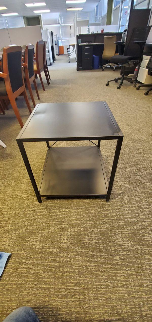 Used BLACK METAL SIDE TABLES