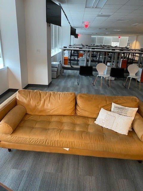 Modern Cognac Leather Sofa