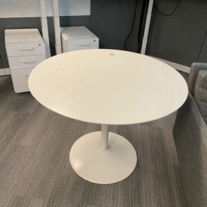 White 42- Round Modern Table