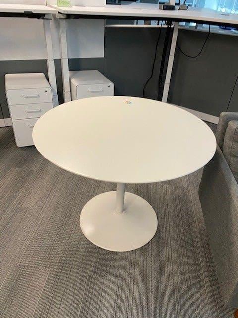 White 42- Round Modern Table