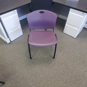 Used SitOnIt Grape Black Frame Stack Chairs