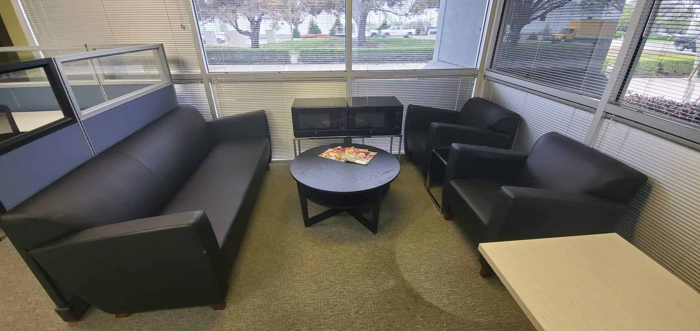 Black Leather Sofa With 2 Lounge Black Leather Lounge Chairs 3