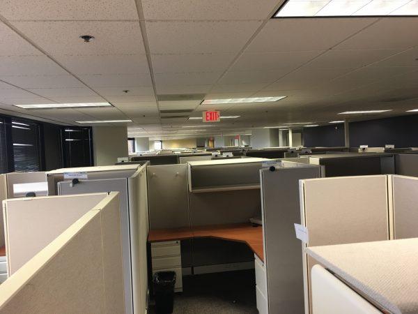 cheap Herman Miller 6x6 6x8 67in tall cubicles