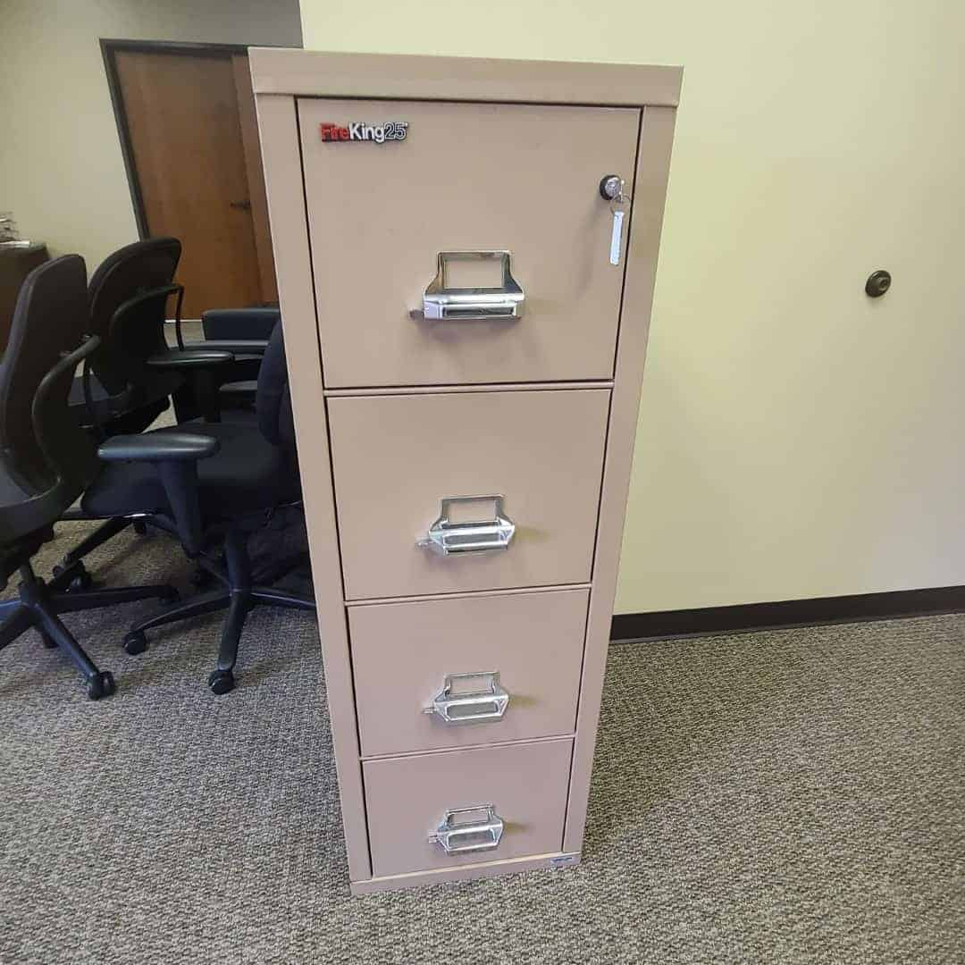 Used FireKing 25 Vertical File Cabinets