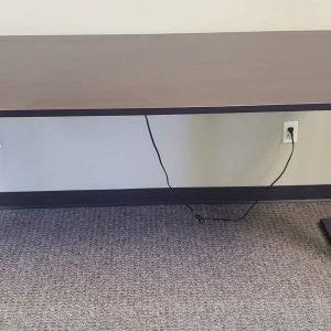 Used Sit Stand Desks Espresso Finish Black Base