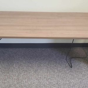 Used Sit Stand Walnut Silver Base