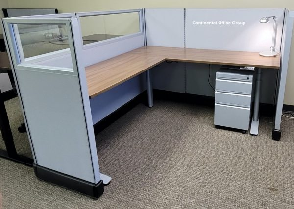 Used AO2 Cubicles with Glass Sit Stand unit
