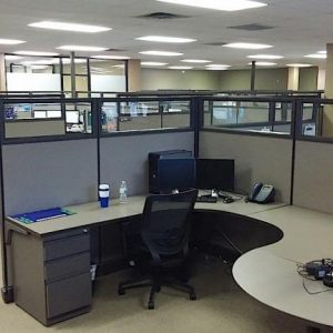 Used Herman Miller AO2 Tall Wall Cubicles with Glass